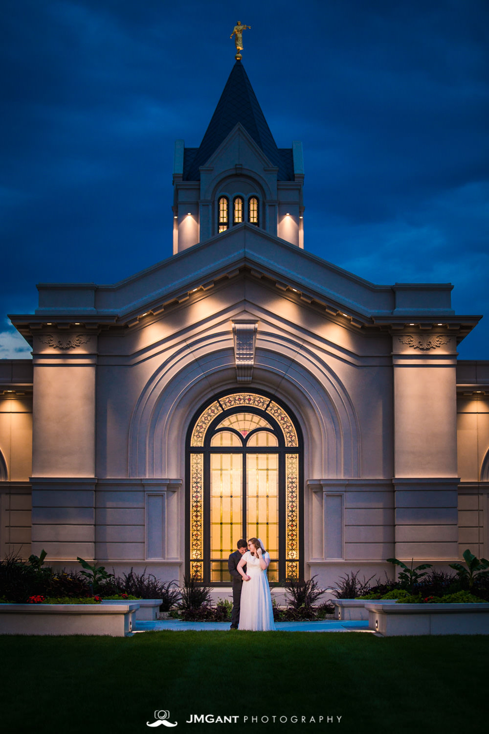 Katie and Conrad's Wedding Formals at Fort Collins Mormon Temple