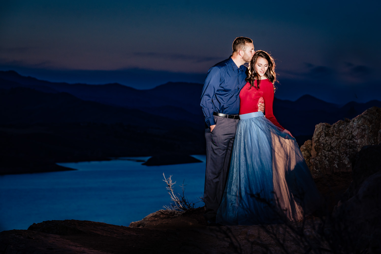 Horsetooth Reservoir Engagement Photos by Fort Collins Wedding Photographer JMGant Photography