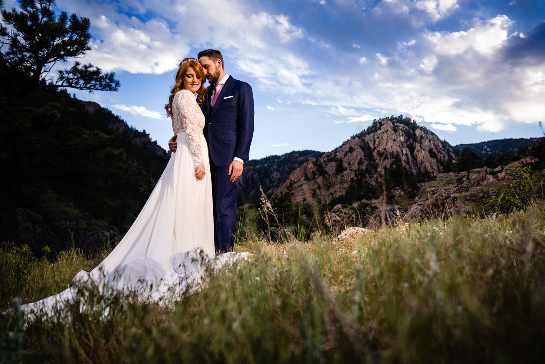 Lyons Colorado Wedding first look by Colorado wedding photographer, JMGant Photography.