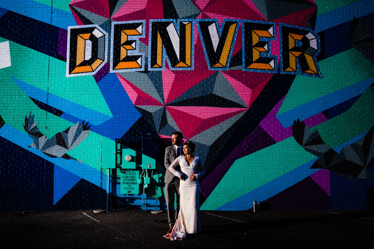 Downtown Denver Graffiti wall by Wedding Photographer JMGant Photography