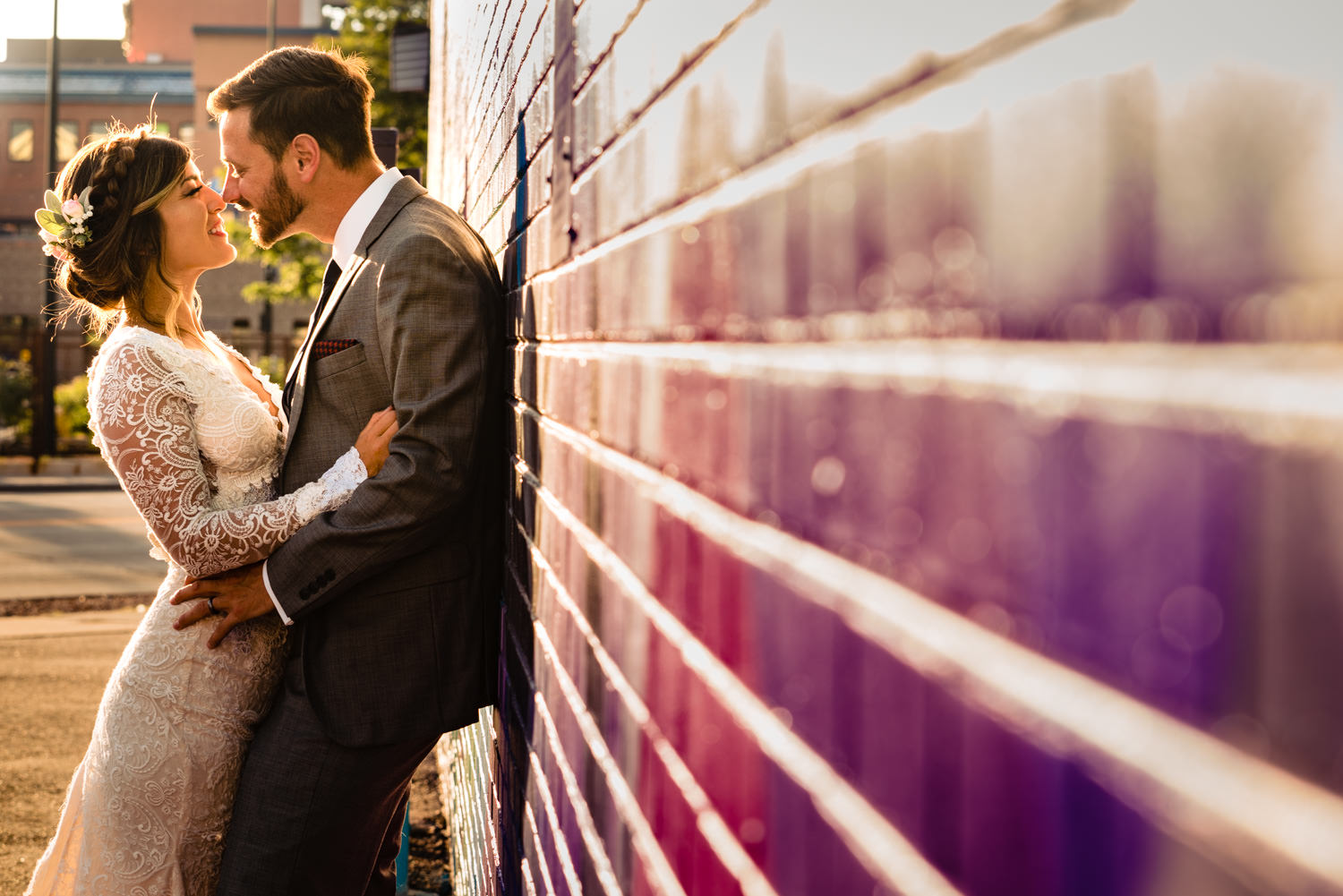 Downtown Denver Wedding by Wedding Photographer JMGant Photography