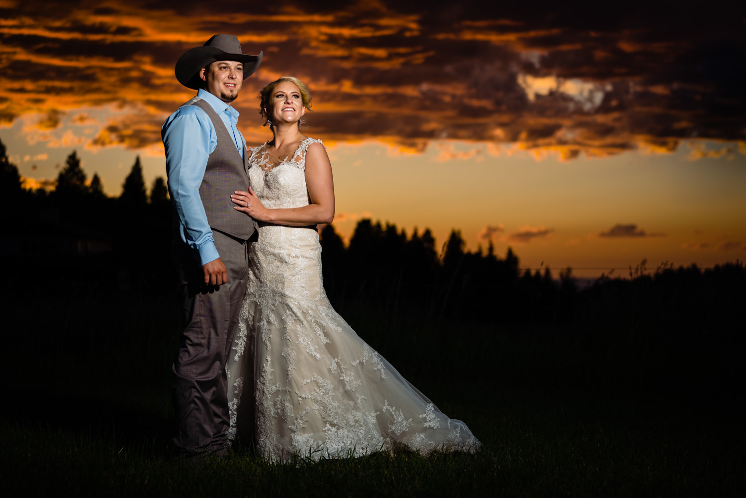 Bozeman Montana wedding by destination wedding photographer JMGant Photography.