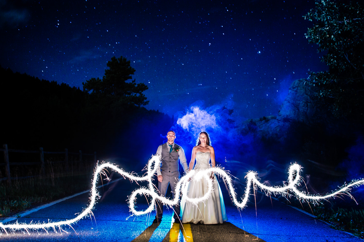 Colorado and Denver best wedding photographer, capturing vibrant bold, colorful, artistic, ourdoor wedding for fun couple who love photography.