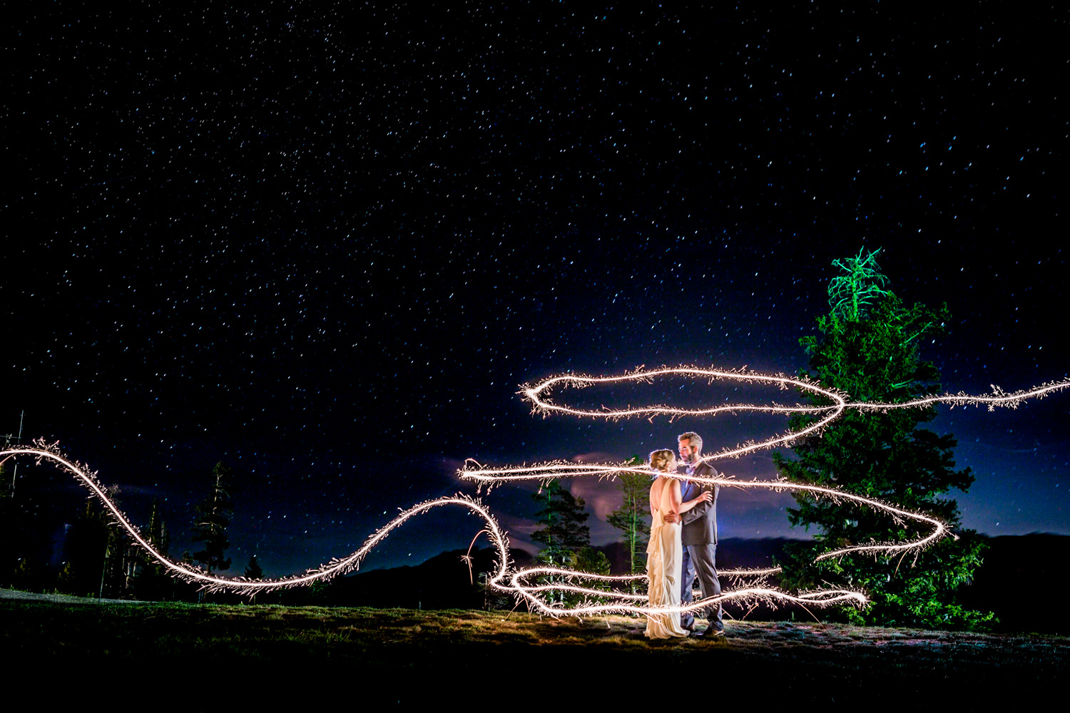 Sparkler exit, Winter Park wedding, JMGant Photography.