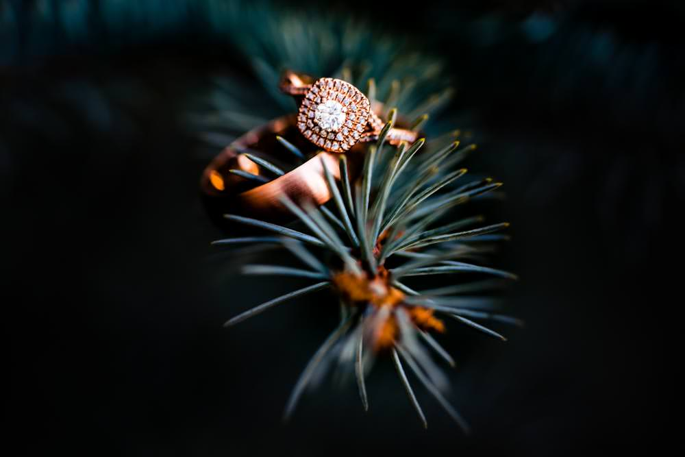 Tapestry House winter wedding by Fort Collins wedding photographer, JMGant Photography - Wedding Ring Details