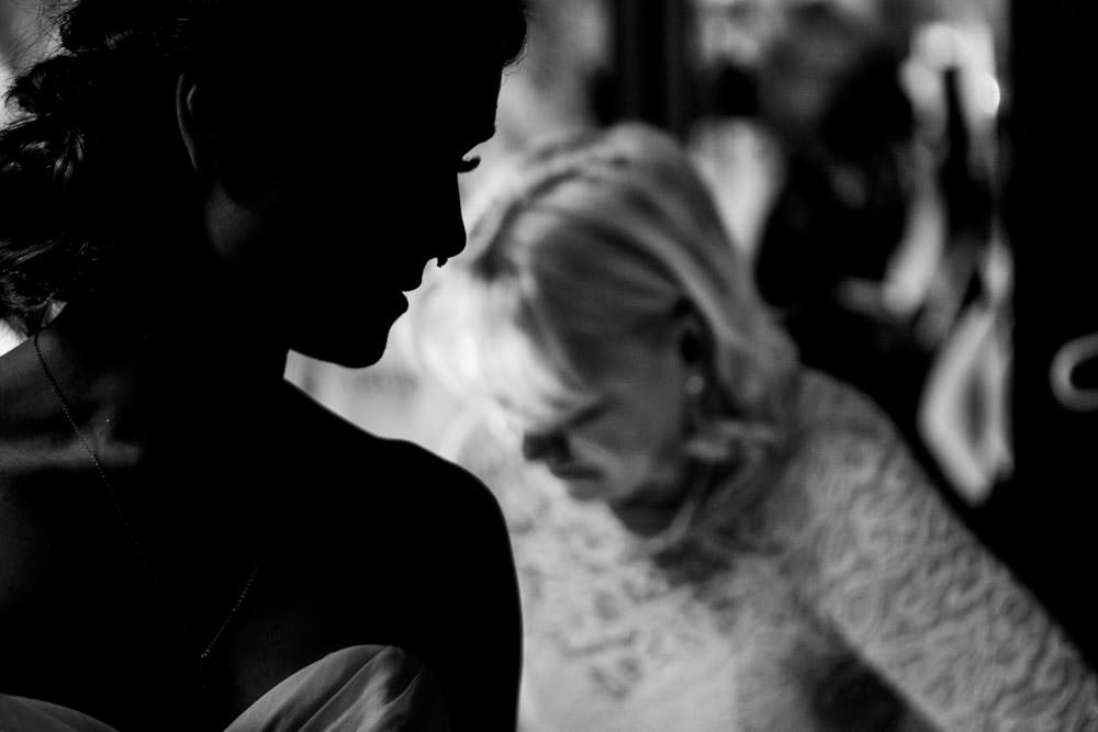 Bride getting ready - Tapestry House winter wedding by Fort Collins wedding photographer, JMGant Photography