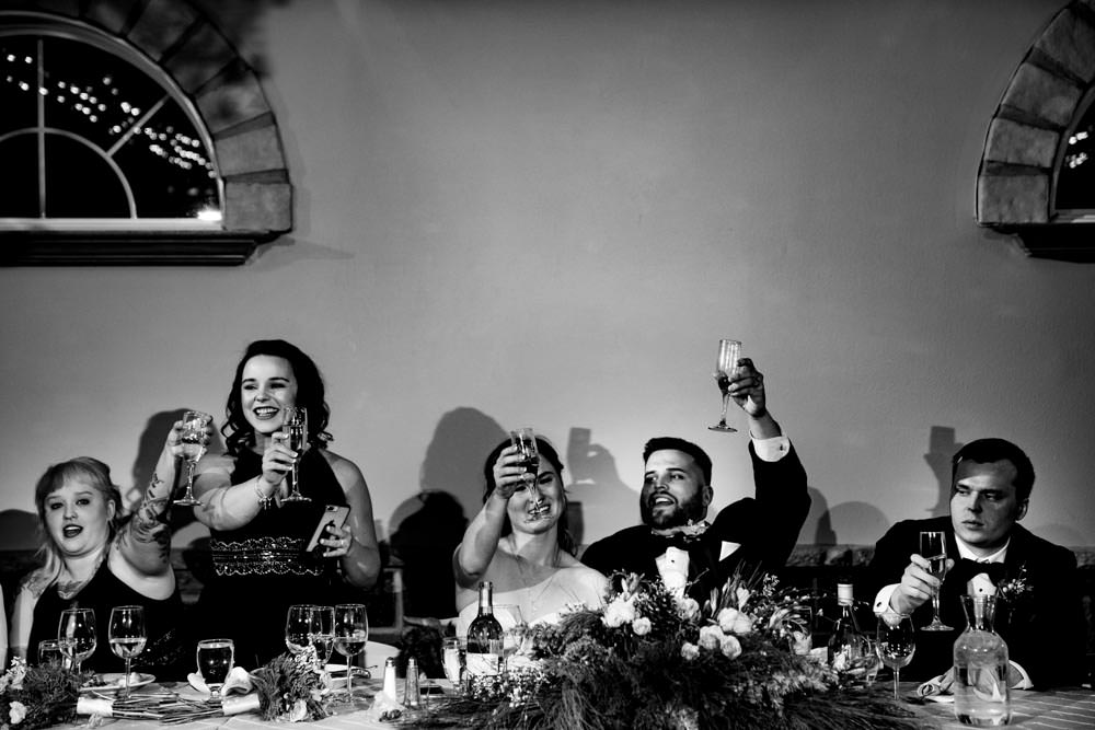 Bridesmaid speech - Tapestry House winter wedding by Fort Collins wedding photographer, JMGant Photography