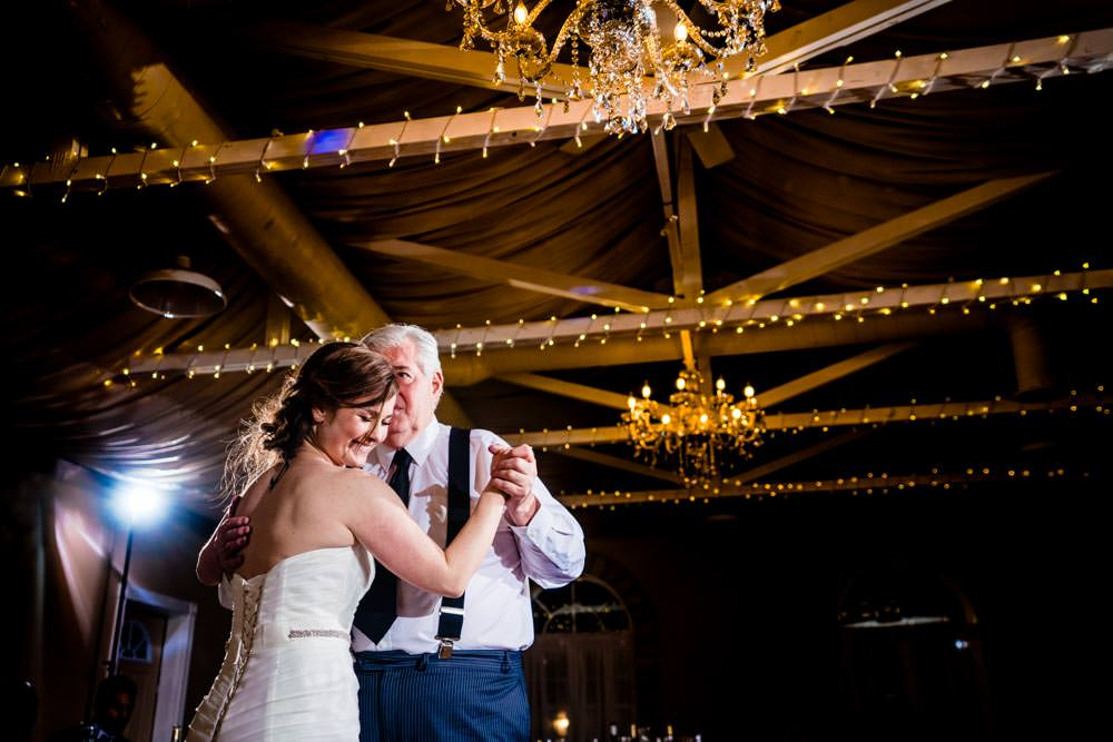 Father dance - Tapestry House winter wedding by Fort Collins wedding photographer, JMGant Photography