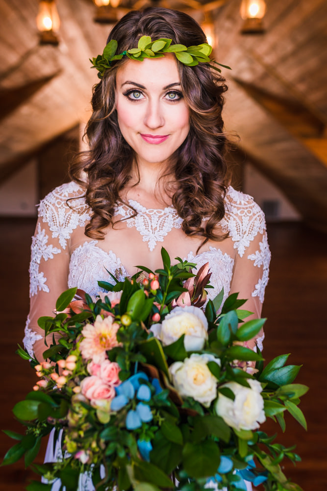 Wedding bouquet at Deer Creek Valley Ranch wedding, designed by Glow Events, photographed by JMGant Photography