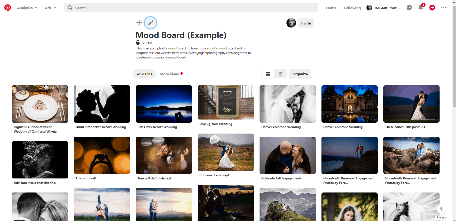 How to create a photography mood board.