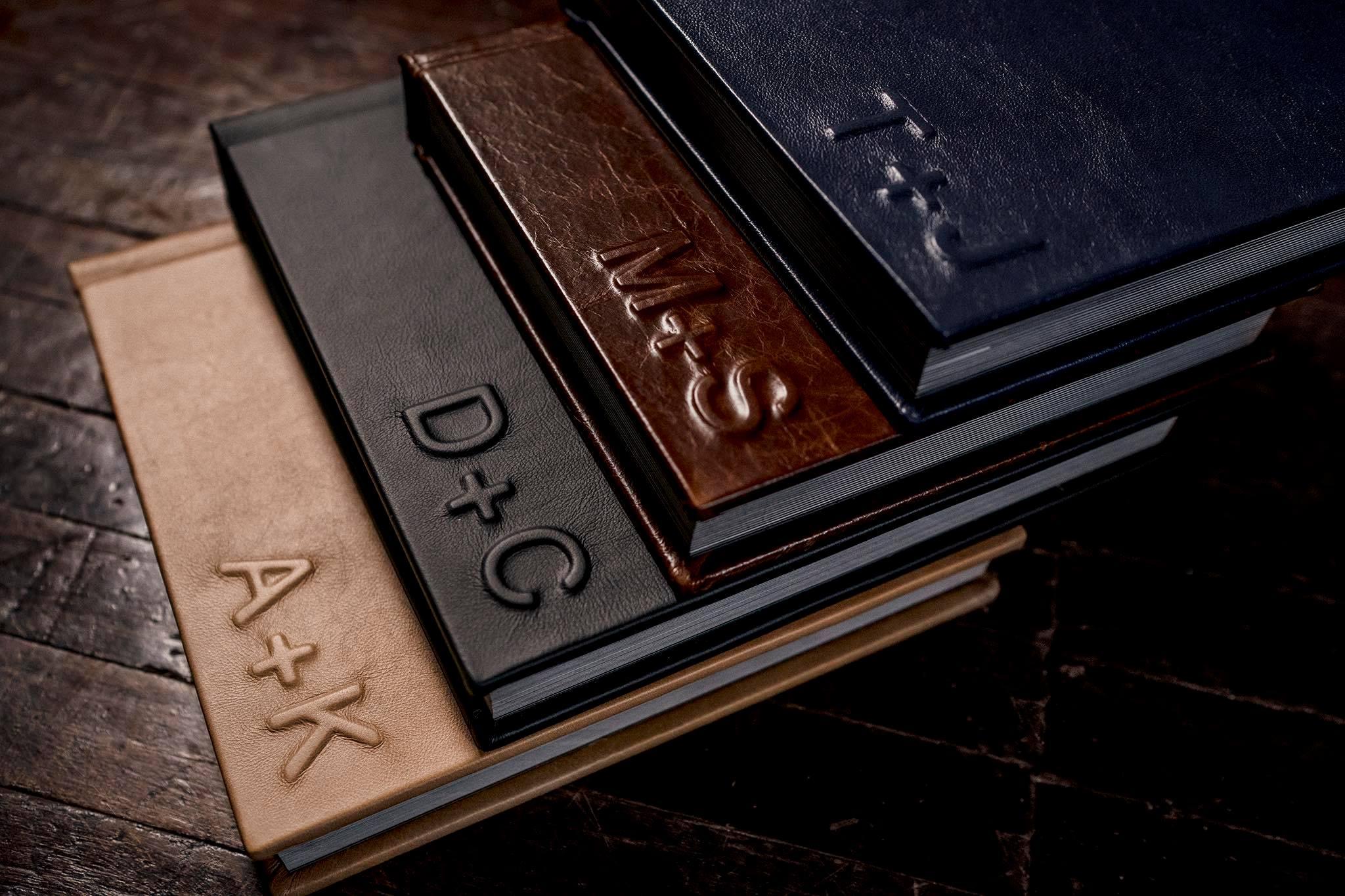 Black Smith Album Leather Options from JMGant Photography