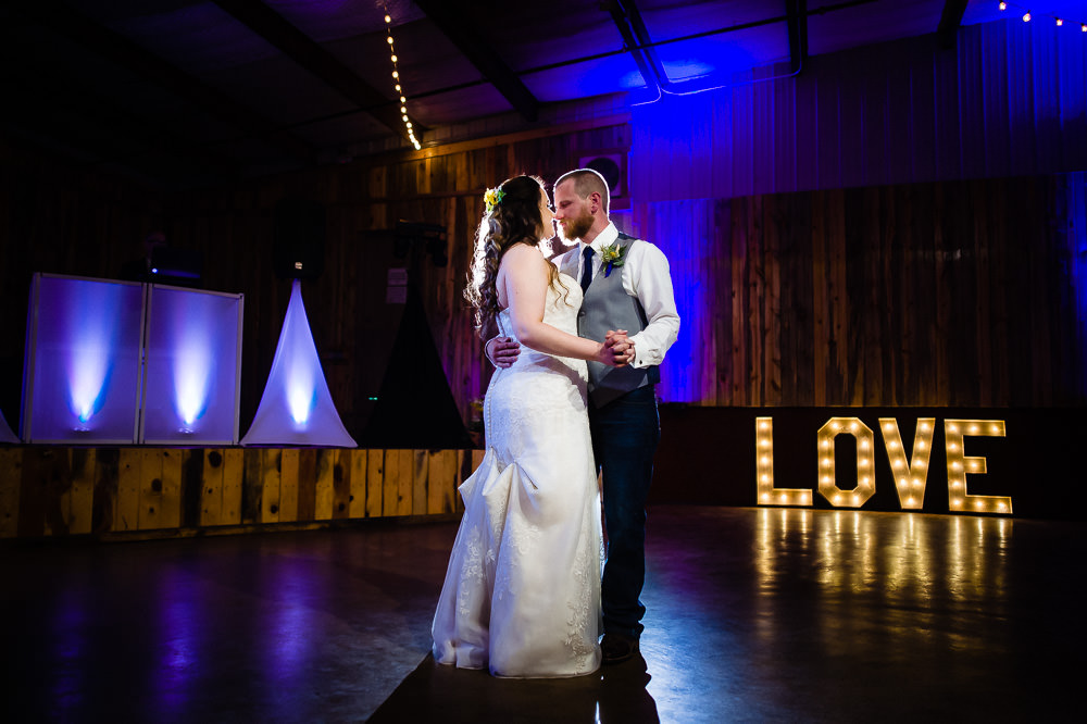 Ellis Ranch Event Center wedding by Loveland, CO photographer, JMGant Photography