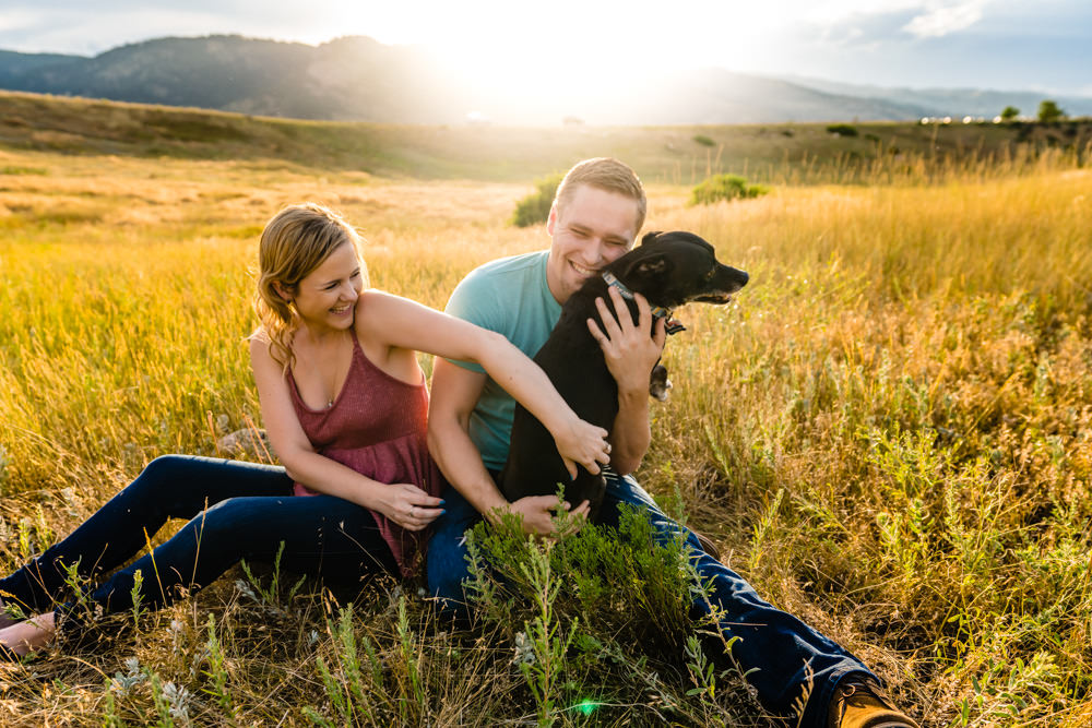 Fort Collins summer engagement photos by Fort Collins wedding photographer JMGant Photography