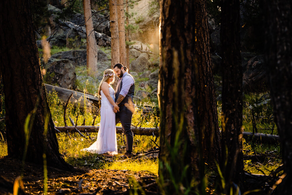 Rocky Mountain National Park elopement photographed by Estes Park photographer, JMGant Photography