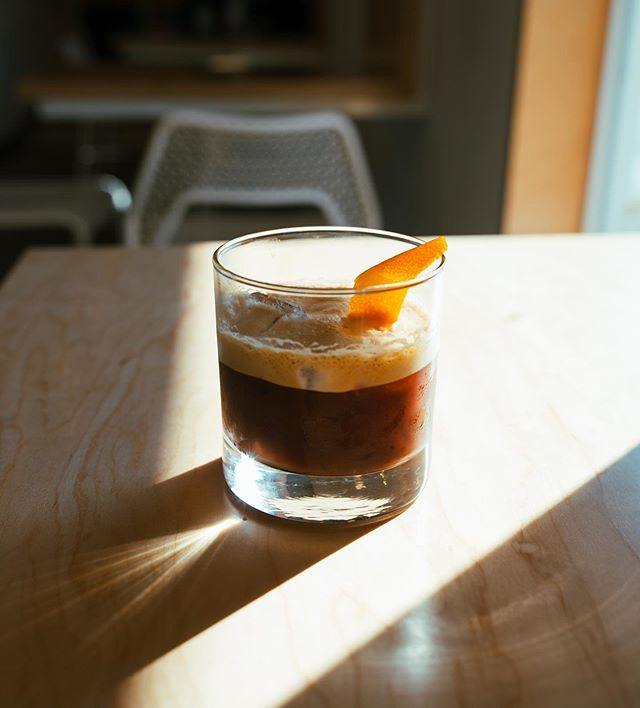 One of our specialty drinks is an Espresso & Honey, and it's exactly what it sounds like. To shake things up, we add a touch of citrus which adds a pleasant twist for our taste buds.  It's definitely an iced drink we recommend!