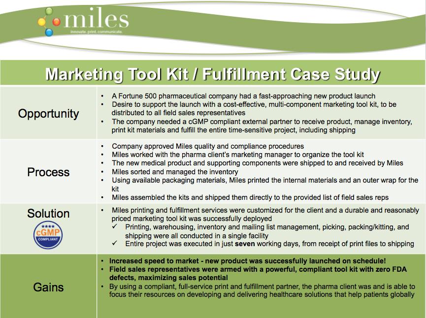 Marketing Tool Kit / Fulfillment Case Study