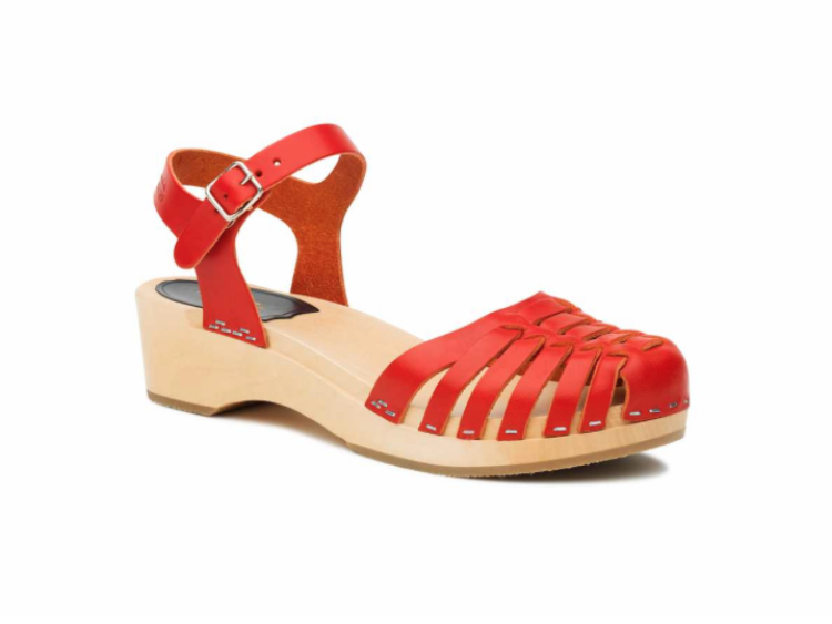 'Snake Debutant' in red, available at pedX North