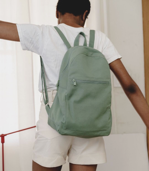 Canvas backpack, $48