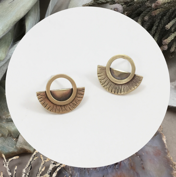 Saturn Studs- intricate detail captured in a small package, the perfect size for everyday wear.