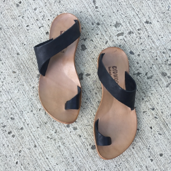 Thong sandal by Cydwoq at our Alberta Street location.