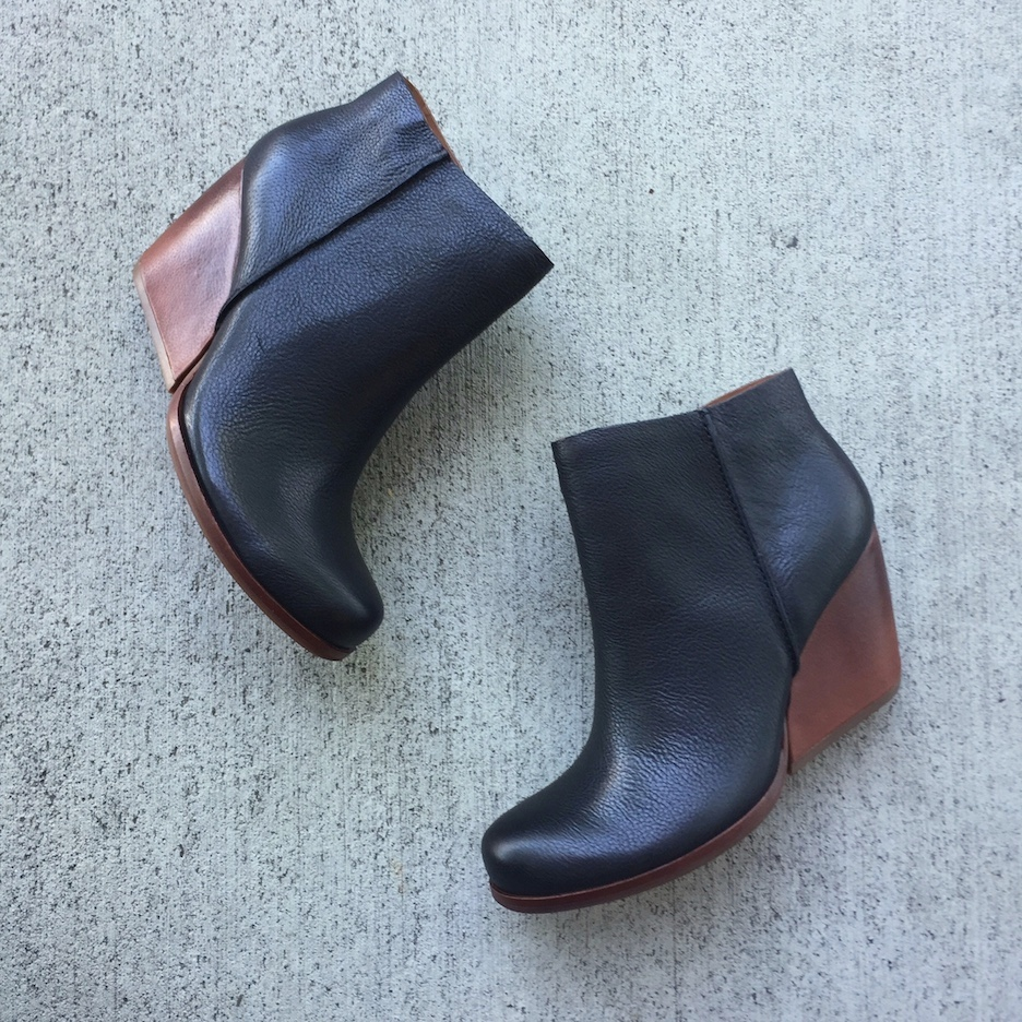 Shock yourself with the cushy goodness of a Korkease wedged boot.