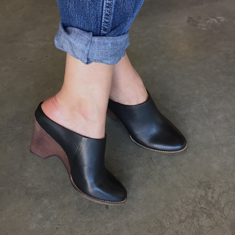 Check out these Kelsi Dagger slip-ons with an elegant half-wedge.
