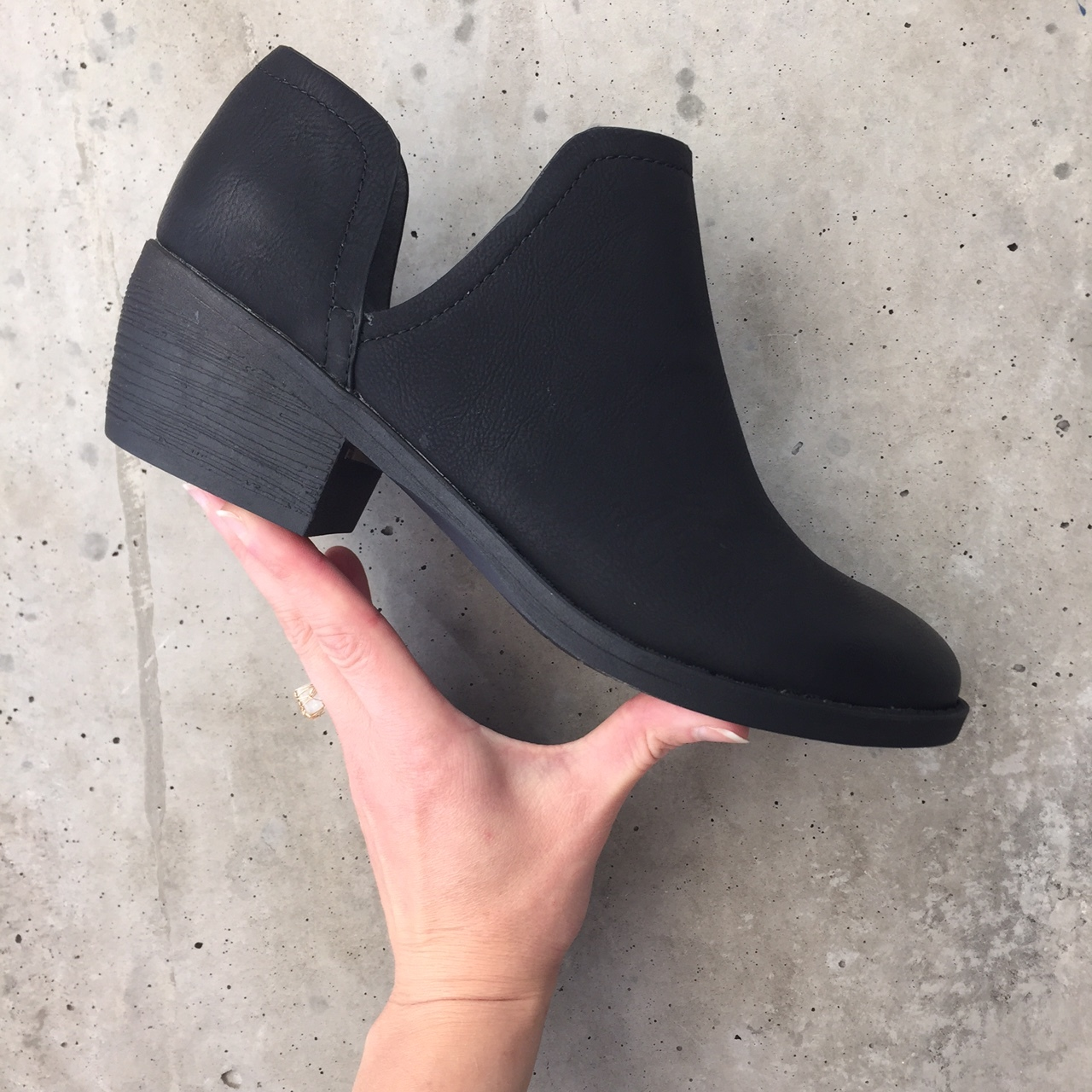 Perfect for a night out sans stiletto injuries, these BC booties will go with any outfit this season.