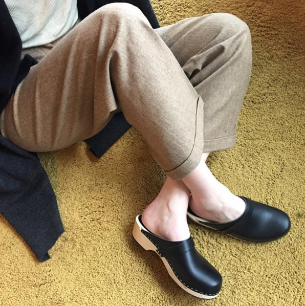 Classic Swedish Hasbeens clogs transition effortlessly into cooler temps.