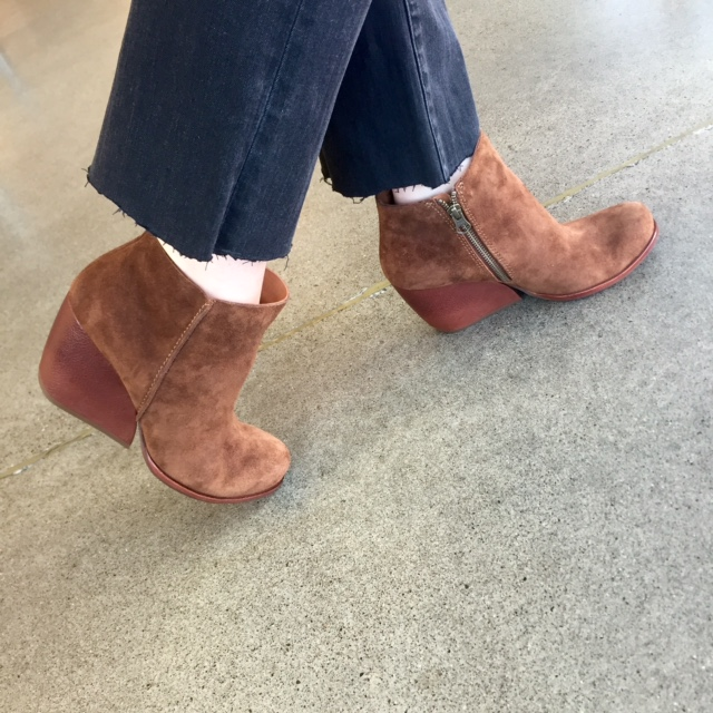 Kork-Ease Natalya Wedges in suede. Chic and practical - everything you want in a heeled boot.