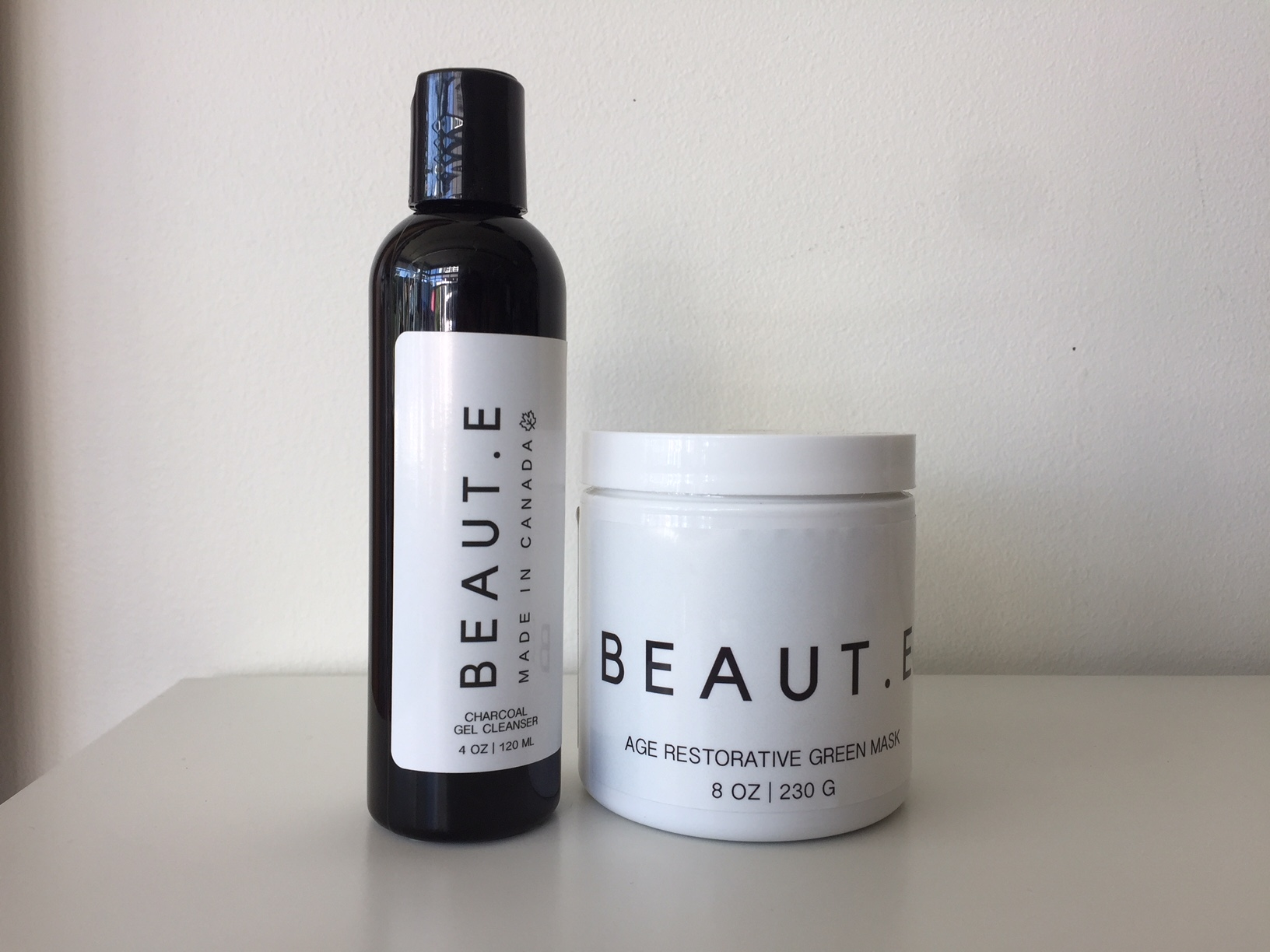 BEAUT.E's Charcoal Gel Cleanser and Age Restorative Green Mask