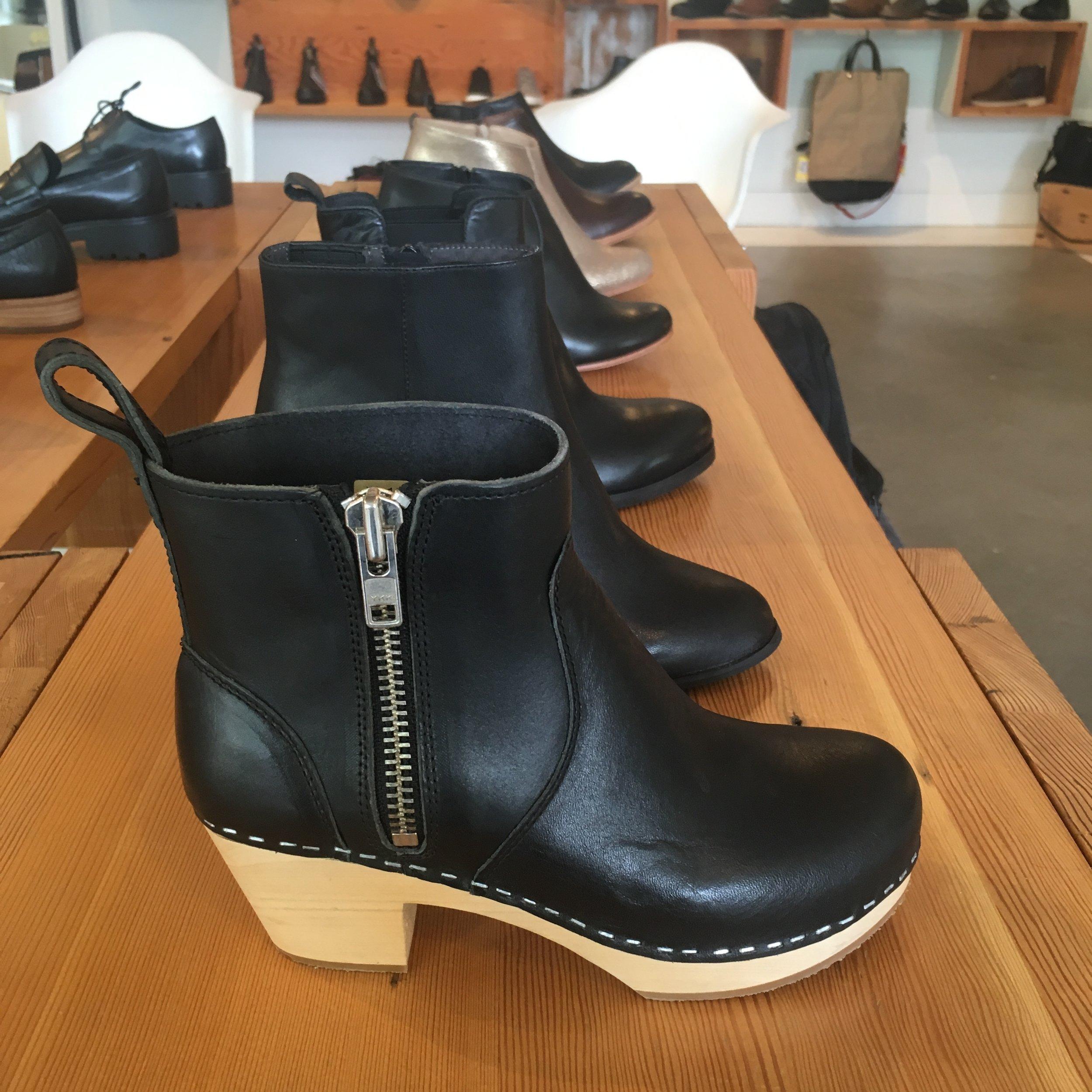 Swedish Hasbeens Zip It Emy Boot, in black, $299.00