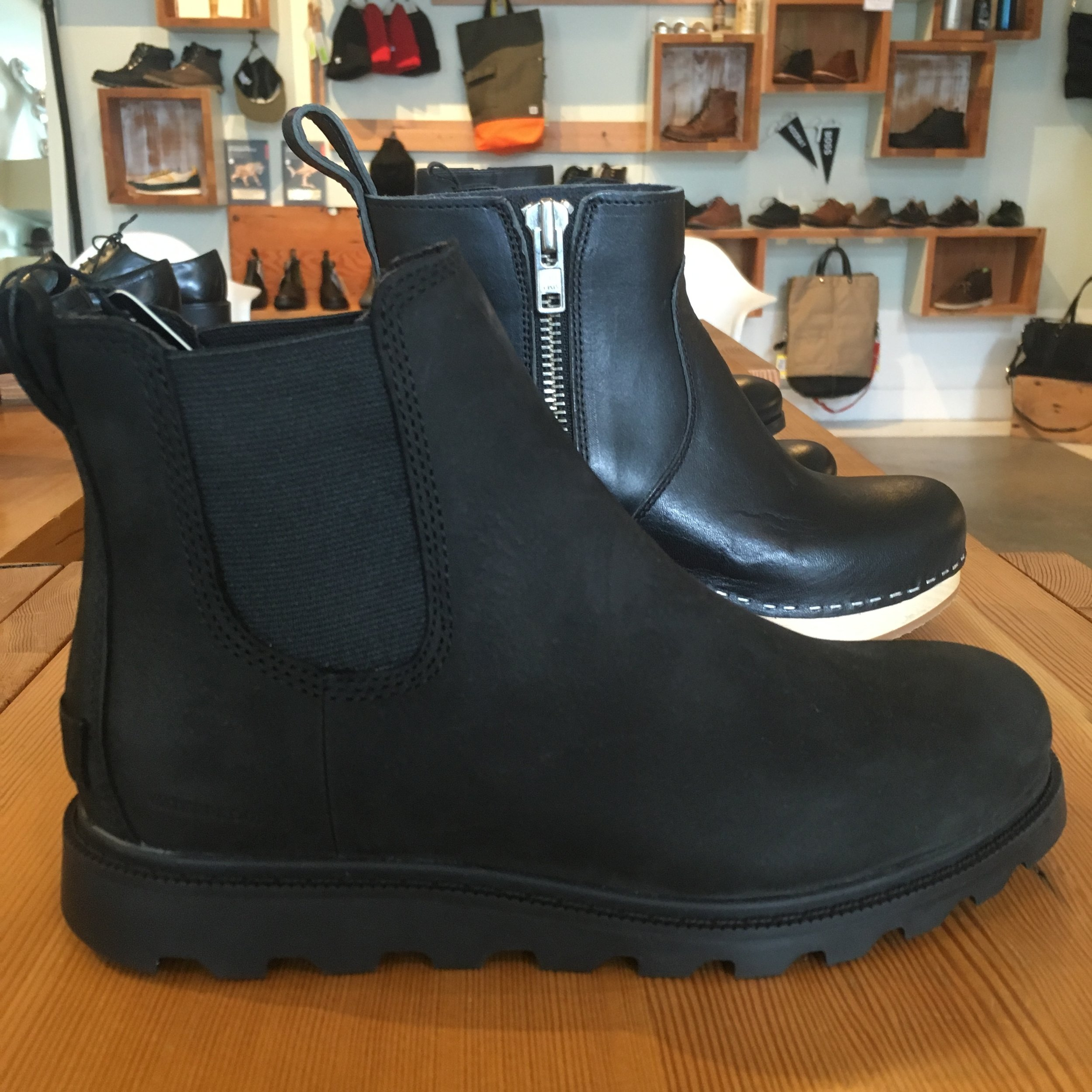 Sorel Ainsely Chelsea Boot, in black (and waterproof!), $150.00
