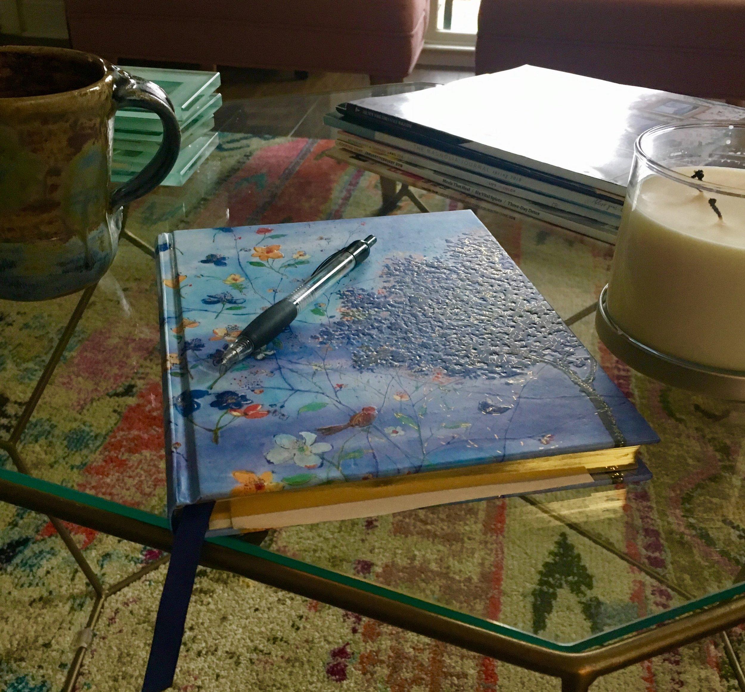 Love me a pretty book to write in!