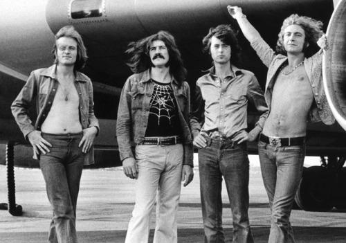 John Bonham (second from left) was a rock on which Led Zep could roll. Photograph: RV1864
