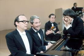Morecambe and Wise working with Mr 'Preview'.