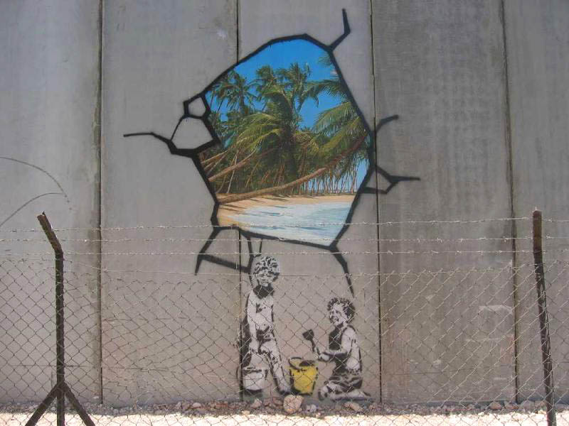 Banksy, not far from Bethlehem