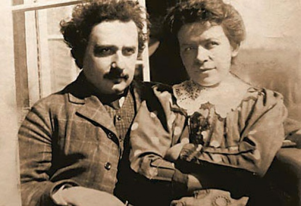 Albert Einstein with his wife, Mileva Marić, the brains behind the brains