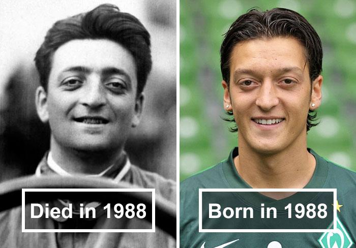 Enzo Ferrari and Mesut Özil