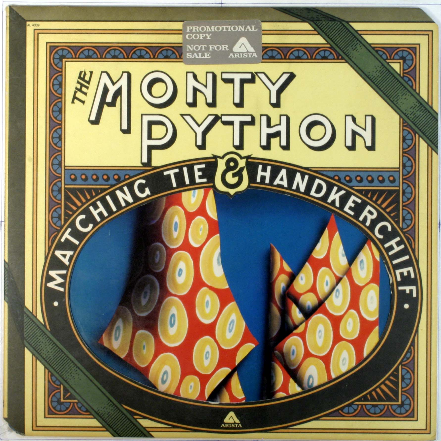 Monty Python. Where's the needle going to drop?
