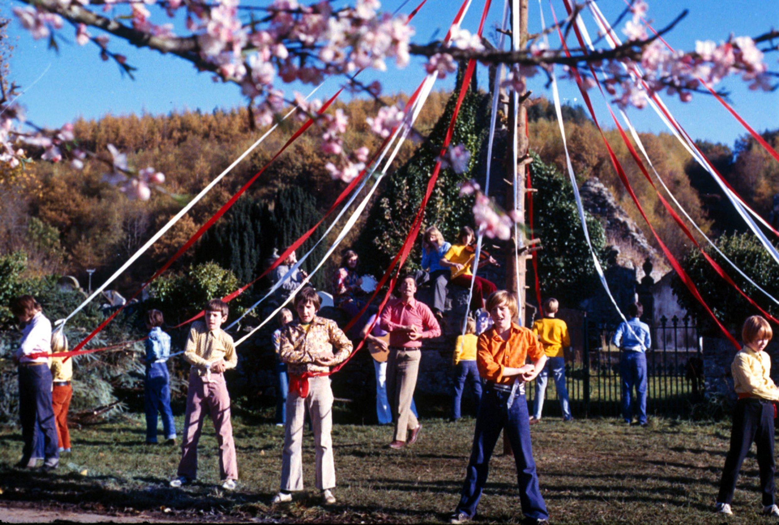 The Maypole scene from The Wicker Man (1973)