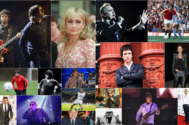 A few of Manchester's famous faces …