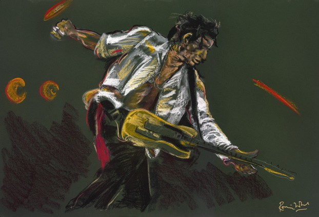 1) Keith Richards by Ronnie Wood