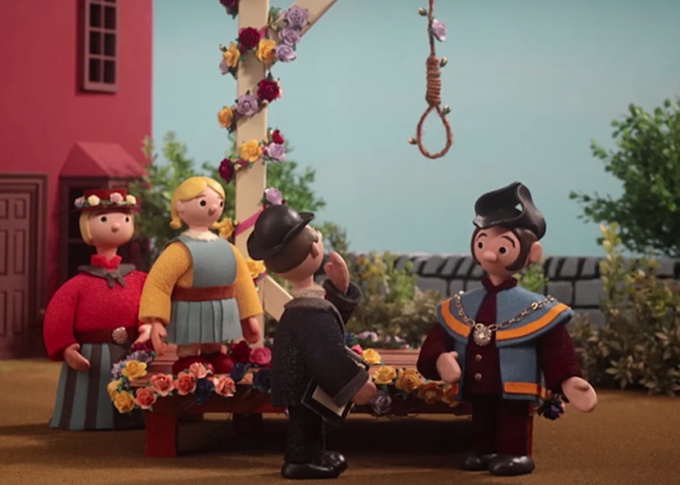 From the video, inspired by Trumpton and Camberwick Green