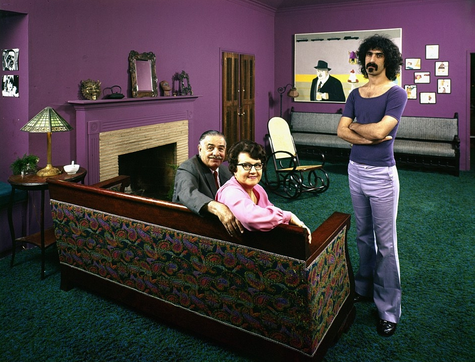 Frank Zappa chez parents' living room