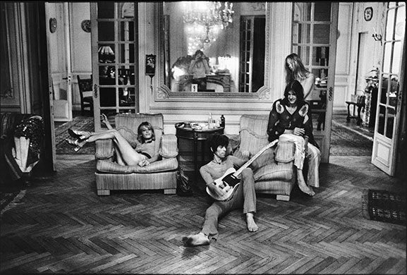Keith Richards French bedroom during the making of Exile on Main Street
