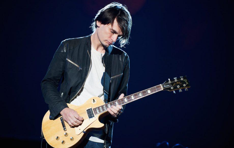 Jonny Greenwood. Pleaded to play guitar in Radiohead.
