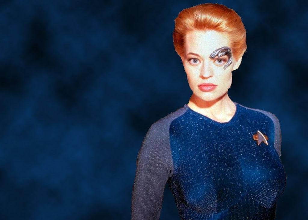 Seven of Nine. Innocent character, but definitely not innocently created.