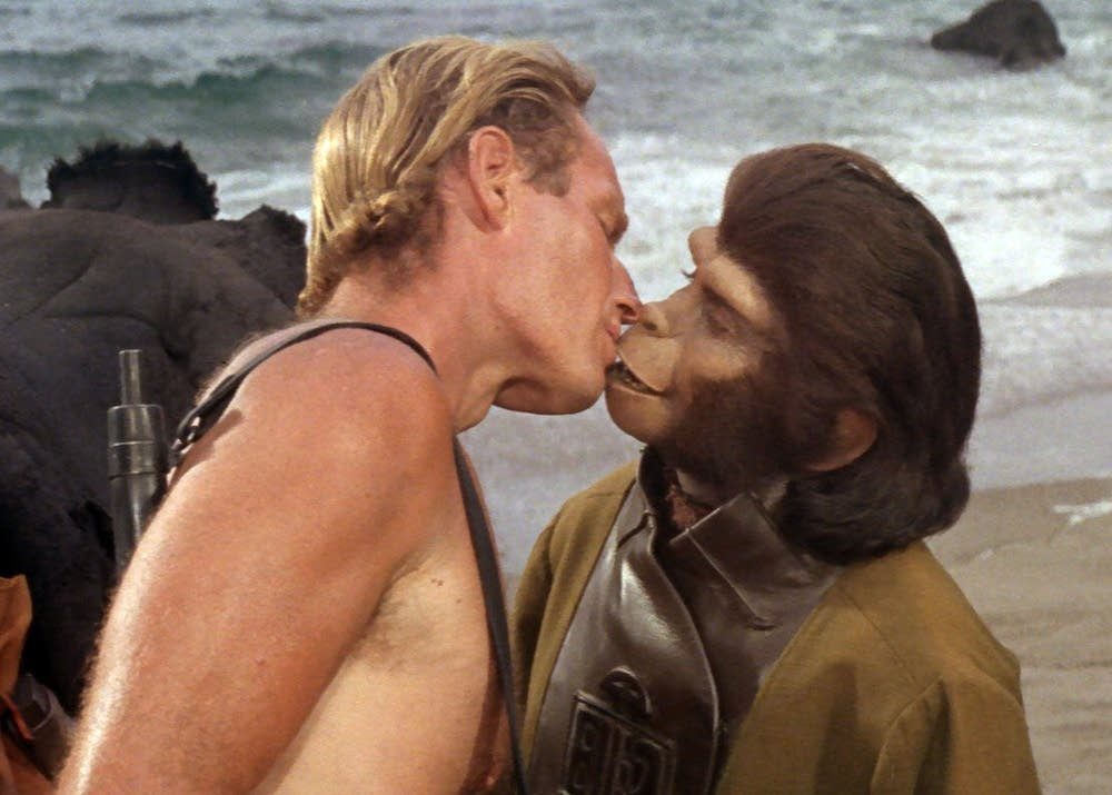 Planet of the Apes. Already happened or may yet occur? Still a gobsmacking idea.