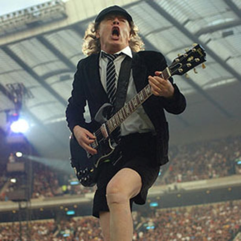 AC/DC's Angus Young as been playing guitar since he was a schoolboy. Oh, hang on …