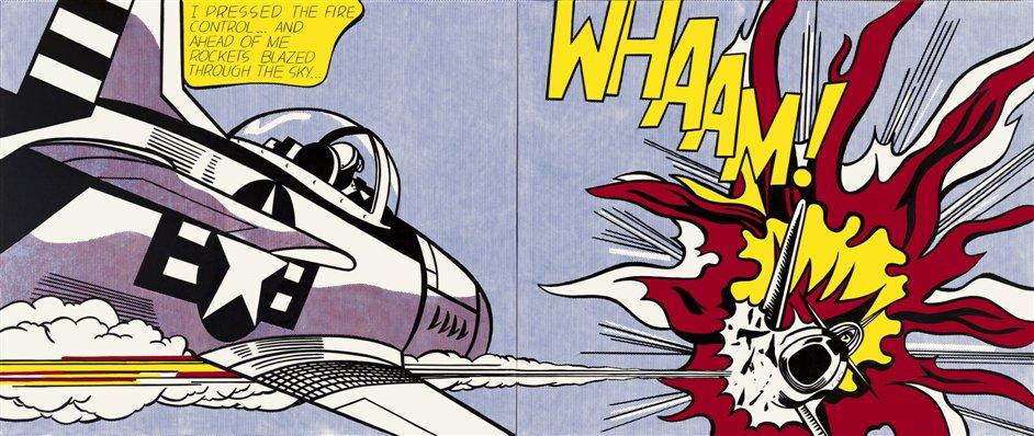 The art of noise, pop style. Lichtenstein, 1964.